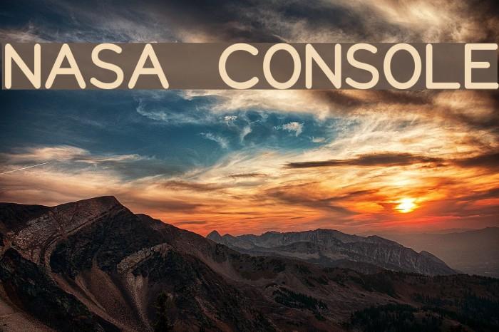 NASA CONSOLE Schriftart examples