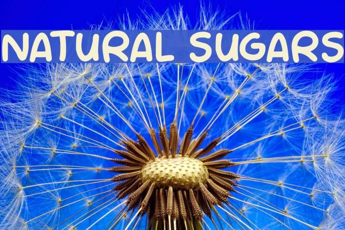 NATURAL SUGARS Шрифта examples