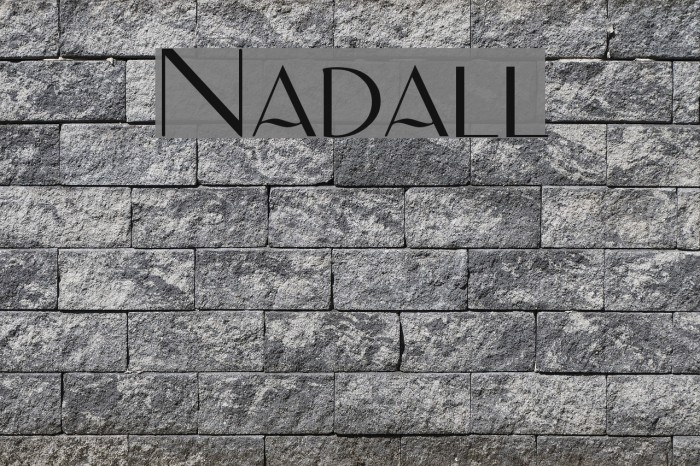 Nadall Fonte examples