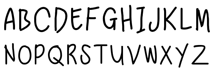 Nadezna's Handwritting Fonte MAIÚSCULAS