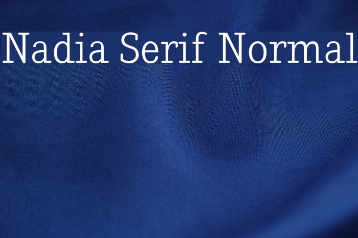 Nadia Serif Normal Fonte examples