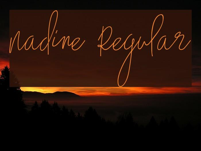 Nadine Regular Fonte examples