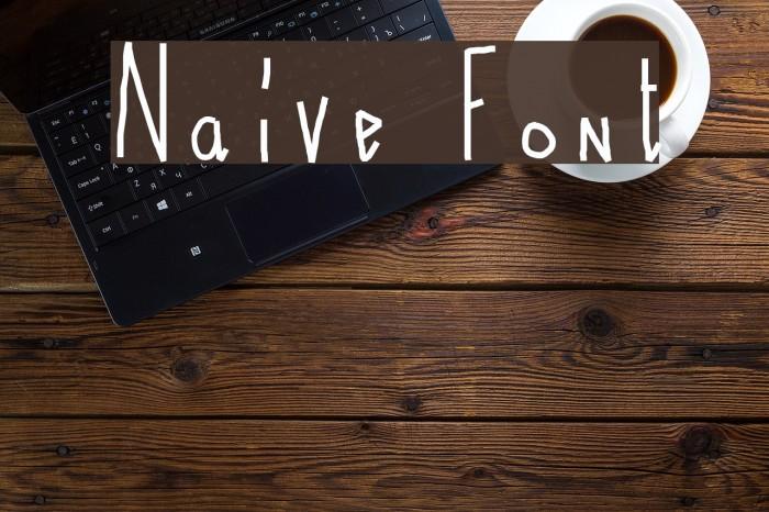 Naive फ़ॉन्ट examples