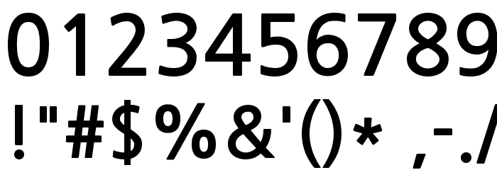 NanumGothicBold Font OTHER CHARS
