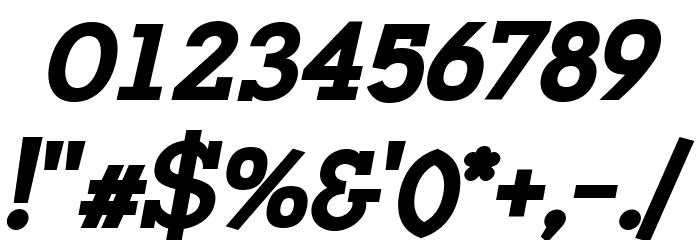 Napo ExtraBold Italic Font Alte caractere
