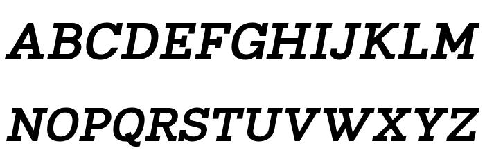 Napo ExtraBold Italic Font Litere mari