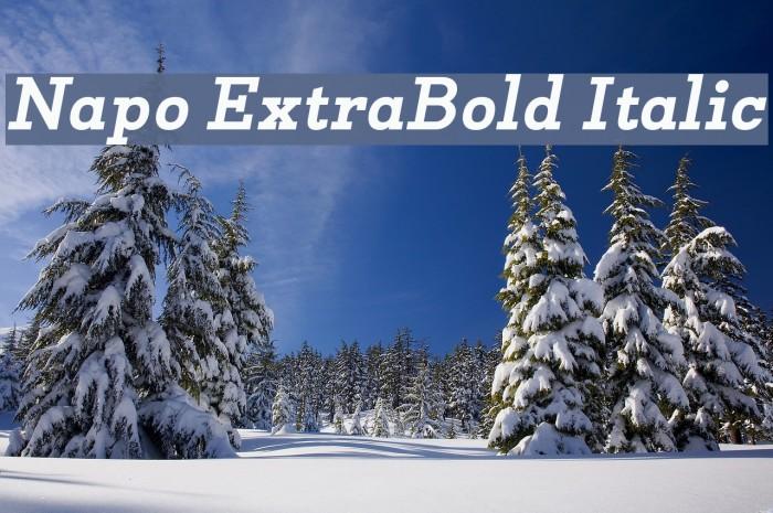 Napo ExtraBold Italic Font examples
