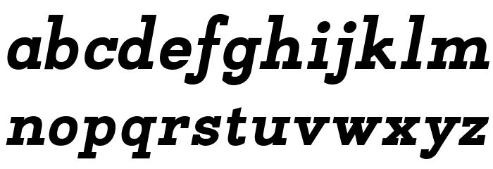Napo ExtraBold Italic Font Litere mici