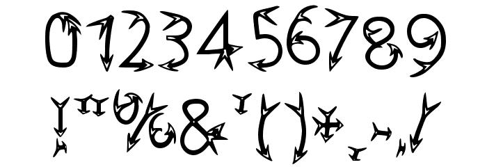 Narrow Arrow Typeface Regular Fuentes OTROS CHARS