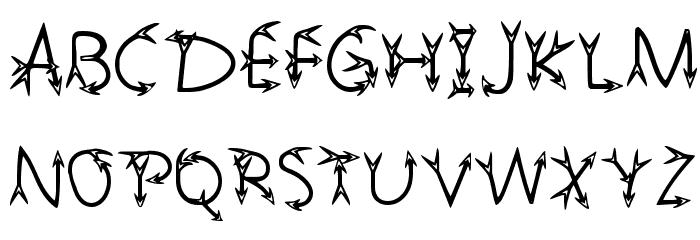 Narrow Arrow Typeface Regular Fuentes MAYÚSCULAS