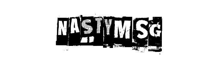 NastyMSG  Free Fonts Download