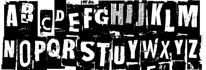 NastyMSG Font UPPERCASE