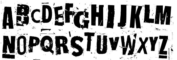 NastyMSG2 Font UPPERCASE