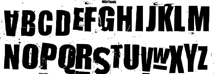 NastyMSG2 Font LOWERCASE