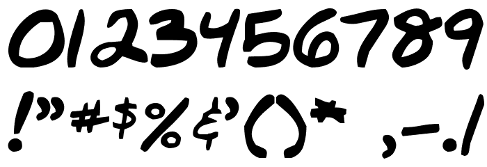 Nate-s-Choice Font OTHER CHARS