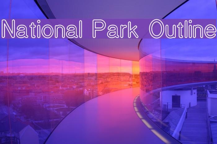 National Park Outline Font examples