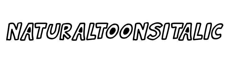 Natural Toons Italic  Free Fonts Download
