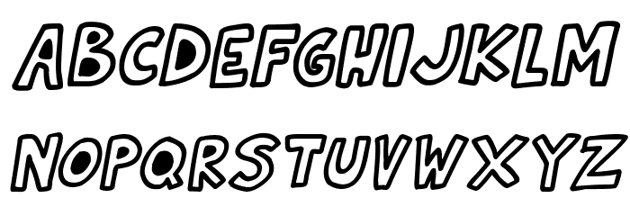 Natural Toons Italic フォント 大文字