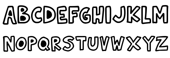 Natural Toons Font LOWERCASE