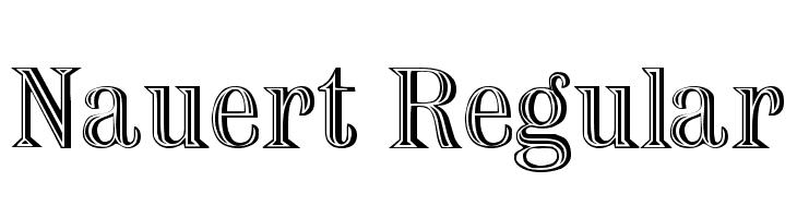Nauert Regular  font caratteri gratis