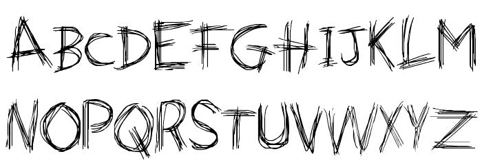 Naughty Scratch 字体 小写