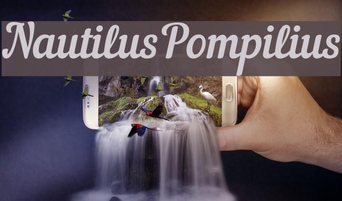 NautilusPompilius Font examples