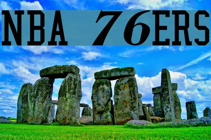 NBA 76ers Font examples