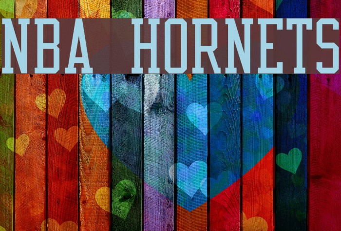 NBA Hornets Font examples