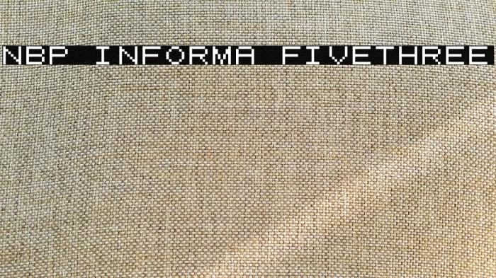 NBP Informa FiveThree 字体 examples