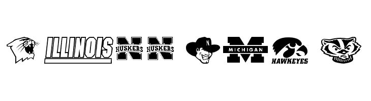 NCAA Big 10  Fuentes Gratis Descargar