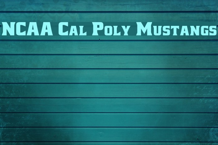 NCAA Cal Poly Mustangs Fonte examples