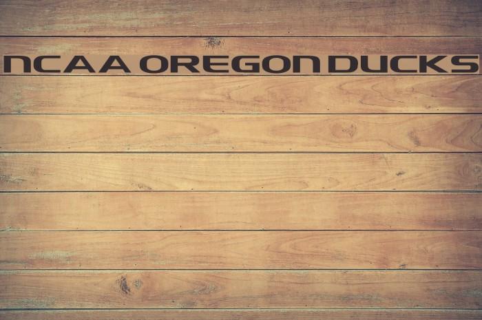 NCAA Oregon Ducks Font examples