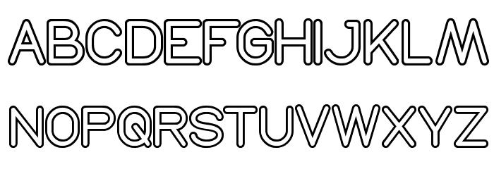 NEON GLOW لخطوط تنزيل الأحرف الكبيرة