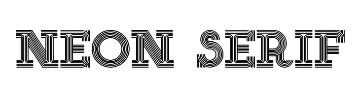 NEON SERIF  Free Fonts Download