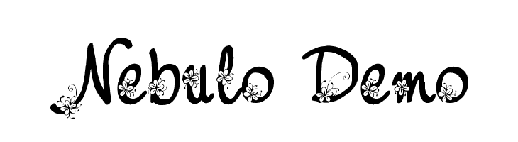 Nebulo Demo  Frei Schriftart Herunterladen