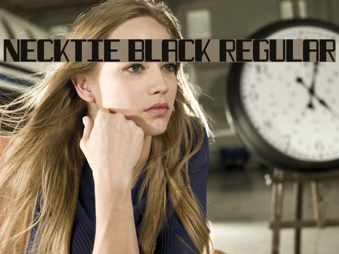 Necktie Black Regular Fuentes examples