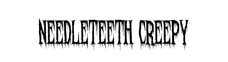 Needleteeth Creepy  Free Fonts Download