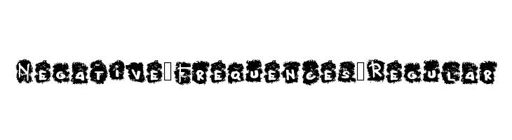 Negative_Frequences_Regular  Free Fonts Download