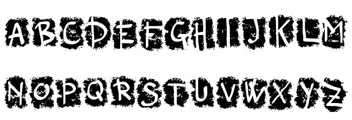 Negative_Frequences_Regular Font UPPERCASE
