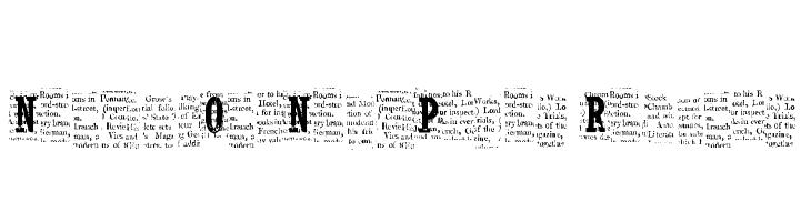 NelsonOldNewsPaper Regular  Free Fonts Download