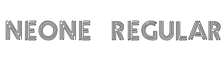 Neone Regular  Free Fonts Download