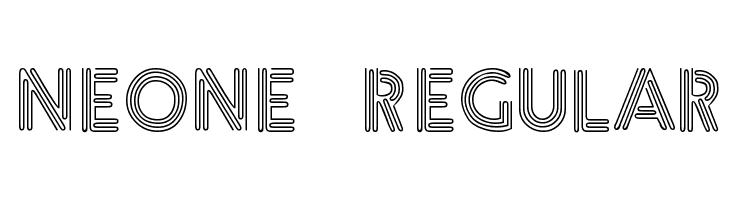 Neone Regular  لخطوط تنزيل