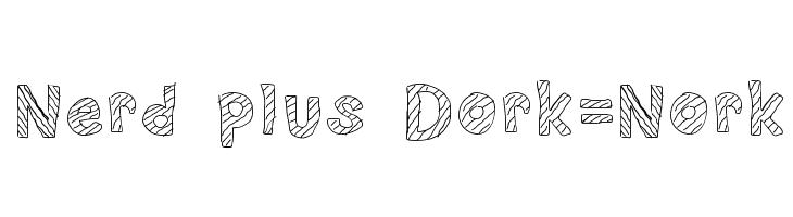 Nerd plus Dork=Nork Font