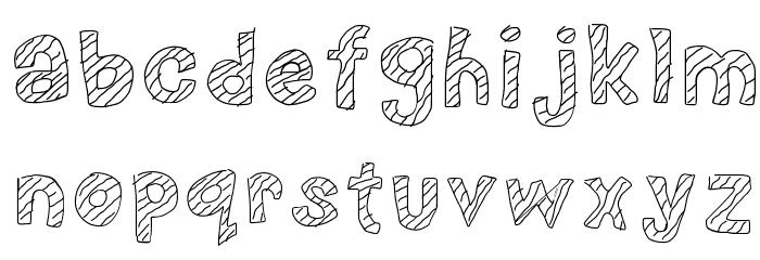 Nerd plus Dork=Nork Font LOWERCASE