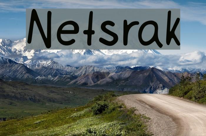 Netsrak フォント examples