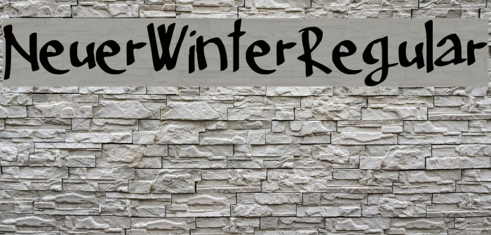 Neuer_Winter_Regular Font examples