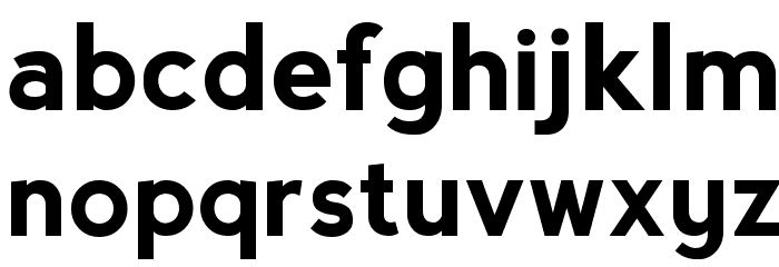 Nevis Bold Font LOWERCASE