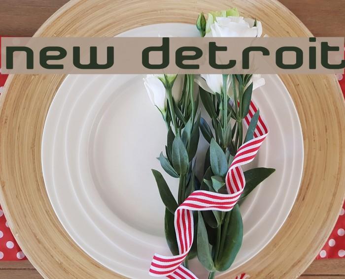 New Detroit Font examples