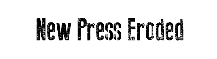 New Press Eroded  Free Fonts Download