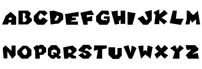 New Super Koopa Bros Wii Regular Font UPPERCASE